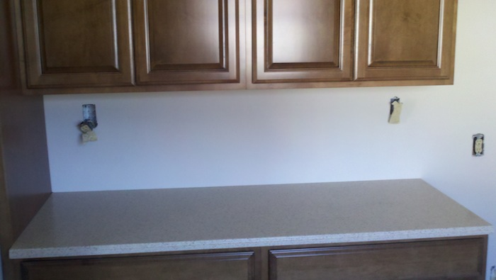 counter top install