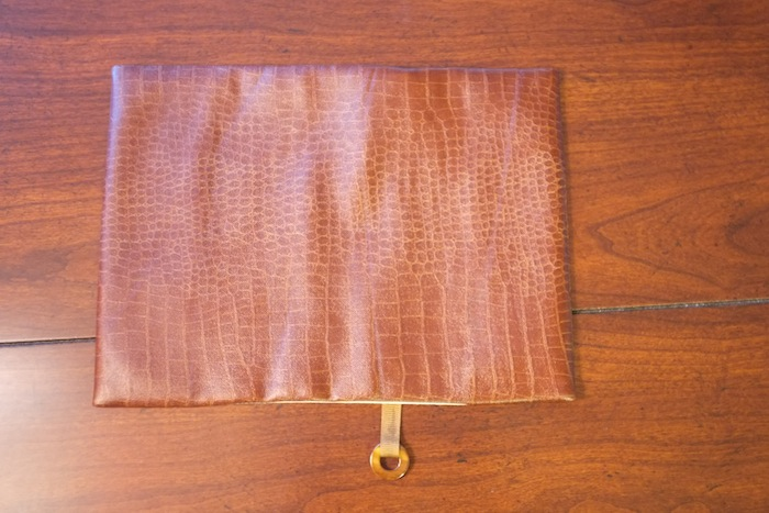 Faux alligator leather book cover