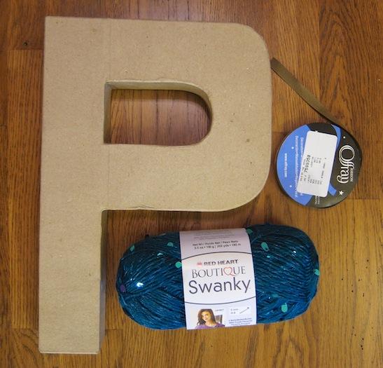 cardboard_letter_P_wreath1