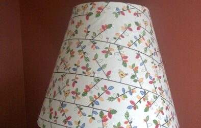 covered lampshade