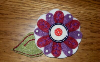another flower pin