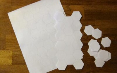 Paper-piecing pillow – WIP