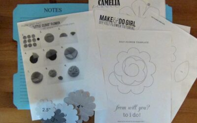 Crafternoon: Felt flowers