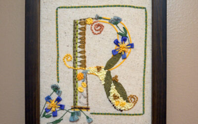Framing Ribbon Embroidery