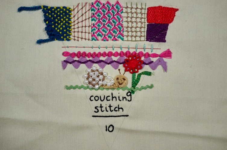 Tast Couching Stitch A Case Of The Crafties