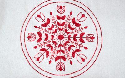 Stitch Floral Snowflake Mandala