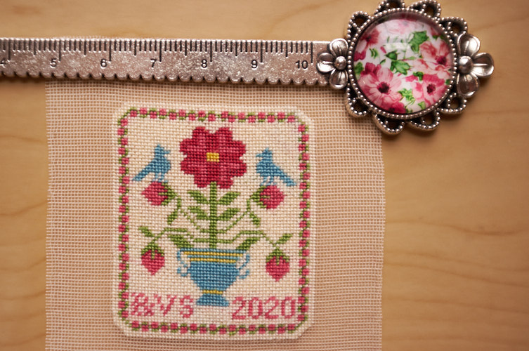 silk gauze rose sampler designed by nancy sturgeon