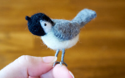 Another Felted Chickadee