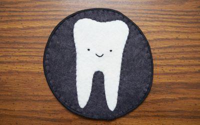 Toothy Felt Coaster